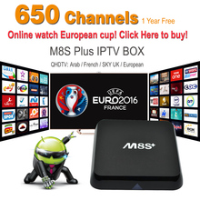 Quad Core Android5.1 Europe IPTV/OTT Box Arabic French Turkey Sky Africa Canal Sports Max Channel For Europe IPTV Arabic TV Box