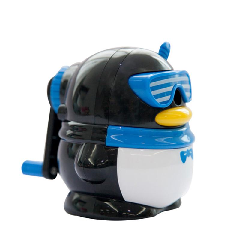 2016 New Design Sharpener Pencil Blue&Pink&Black Color Cute Safe 92*104*100mm Material Escolar Penguin Infantile XBQ9719(China (Mainland))