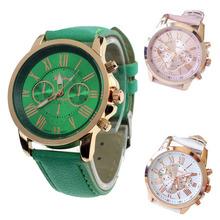 Mickey New Women's Fashion  Faux Leather Roman NumeralsAnalog Quartz Wrist Watch Freeshipping&Wholesale