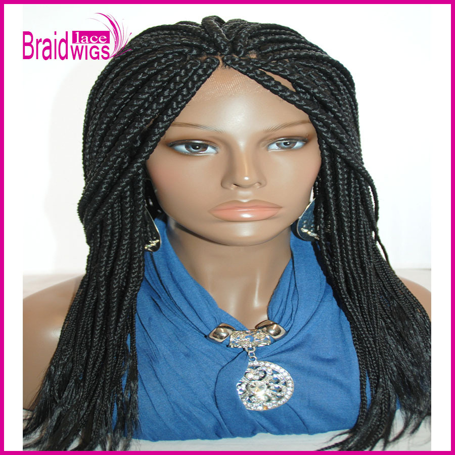 Box Braid Lace Front Wigs for Black Women