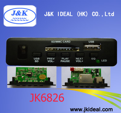 JK6826 Audio USB host SD MMC MP3 board
