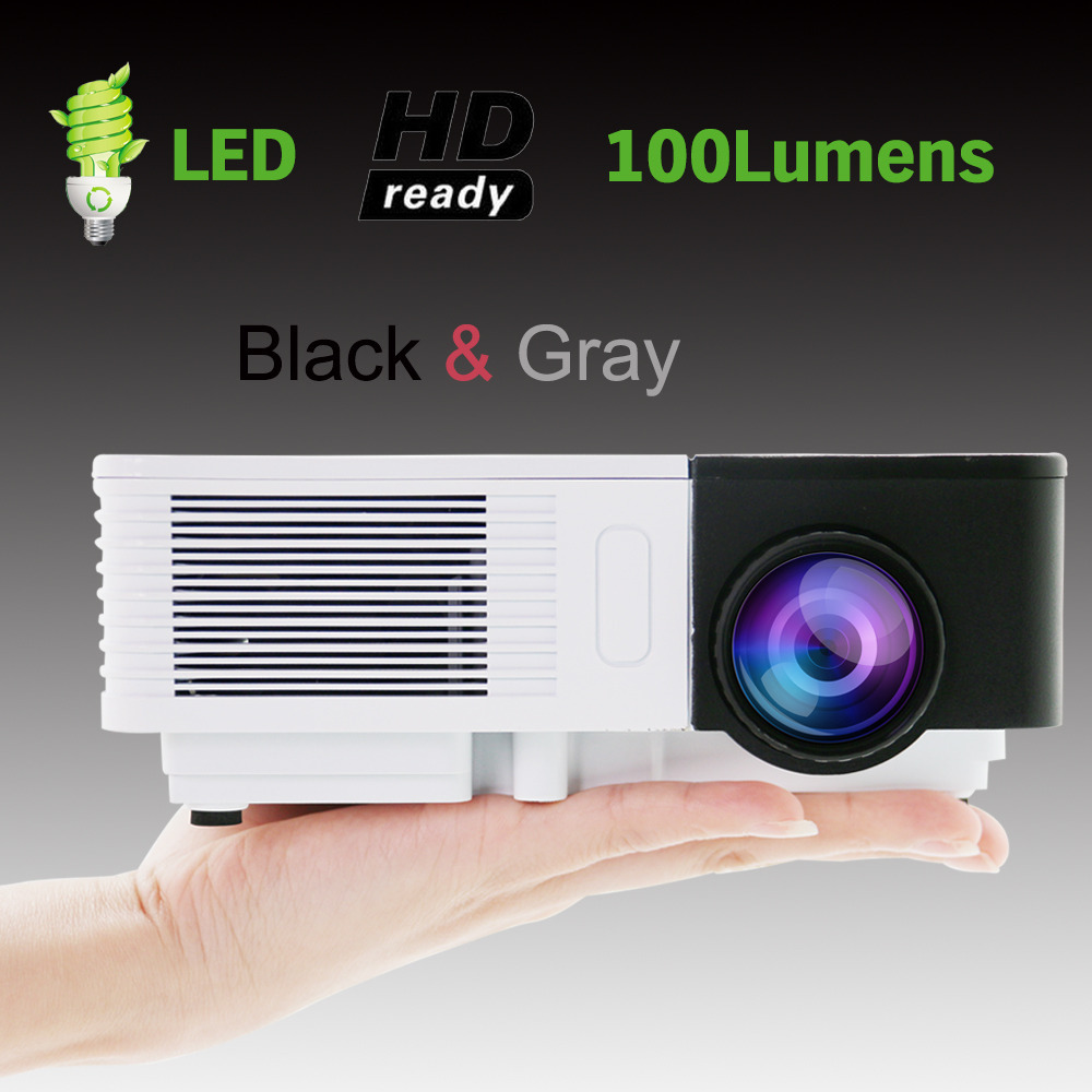 Free shipping newest 100lumens 3d led electric zoom for Small tv projector