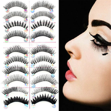 10 Pairs Styles Mix False Eyelashes Handmade Makeup Natural Long Fake Eye Lashes Set(China (Mainland))