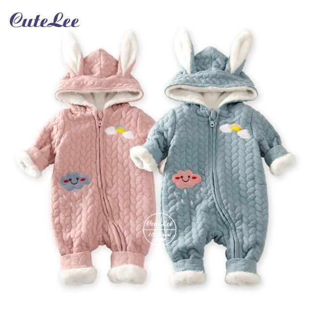Детские младенческой рождество зимний хлопок плюшевые детский молния дизайн девушка новорожденный мальчиков одежда детский зимний комбинезон для мальчиков зимние пальто