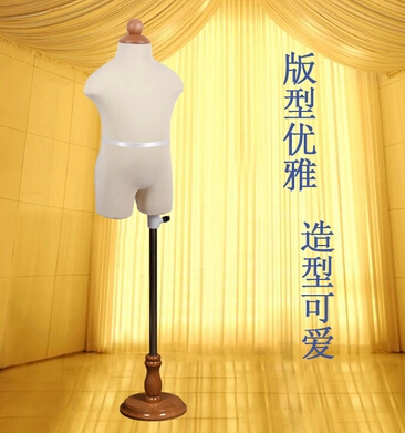 Clothing costumes model doll soft body bust rack model,Child /Children Mannequin Manikin Kid Dress Form Display+Round baseM00043(China (Mainland))