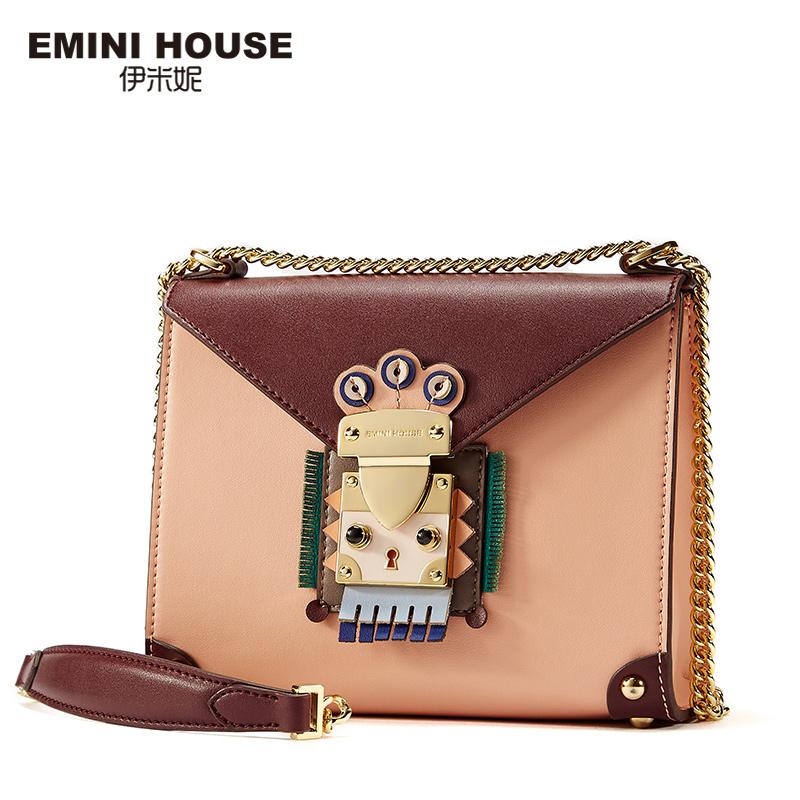 EMINI HOUSE Indian Style Flap Bag Original Chain Bag Split Leather Women Messenger Bags Crossbody Bags For Women Shoulder(China (Mainland))