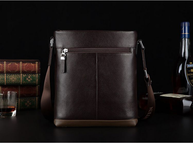 BOSTANTEN 100% GENUINE LEATHER Cowhide Shoulder Leisure Men's Bag Busi