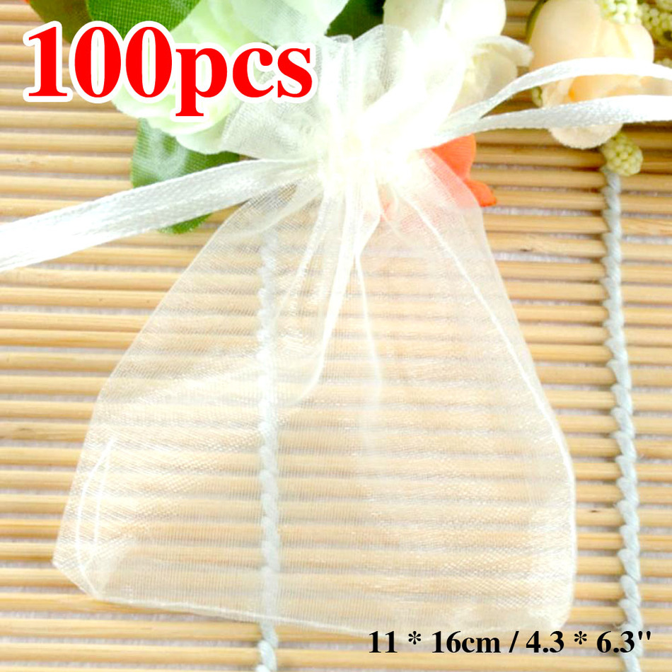 Sale White Special Price 11x16 cm Organza Jewelry Bags Wedding Gift Bags Tea Storage Bags Packaging 100pcs/lot Wholesale(China (Mainland))