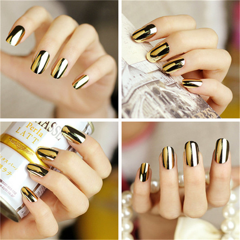 2016 New Arrival Water Transfer Foil Nails Art Sticker Metallic Shining Nail False Decal Manicure French Style OR601404(China (Mainland))