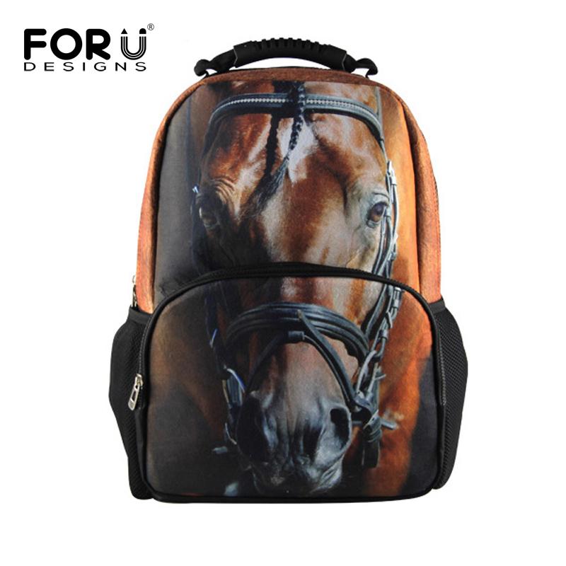 Fashion 3D Tiger School Bags Kids Children Animal Schoolbag,Crazy Horse Backpack Boys,Men's Travel Shoulder Bag Mochila - KIDS FOR YOU,CO.,LTD store