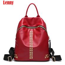Buy Fashion Women Backpack High Youth Leather Backpacks Teenage Girls Female School Shoulder Bag Backpack WN 39 for $22.98 in AliExpress store