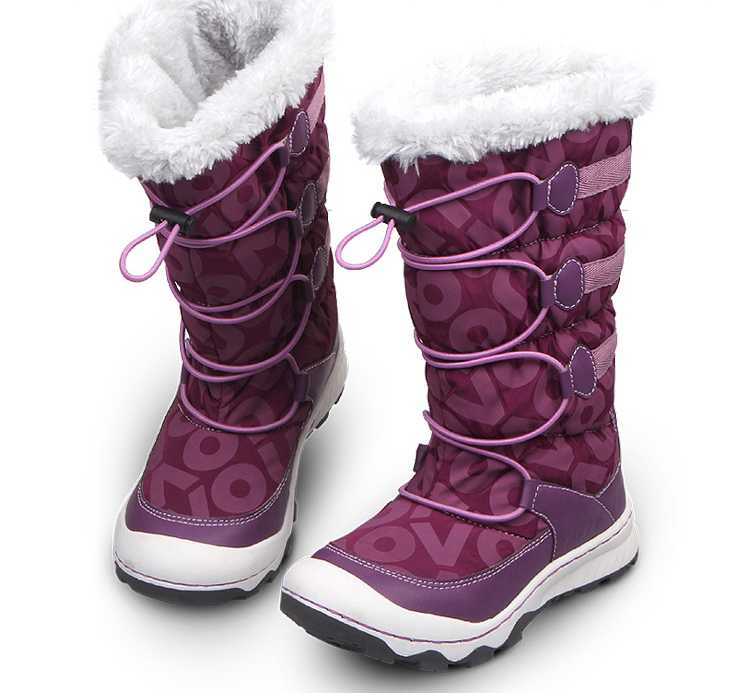 Girls Snow Boots Thicken Warm Botas Mujer Casual Flat Fleece Winter Shoes New Leather Cloth Girls Snow Boots Thicken H5393<br><br>Aliexpress