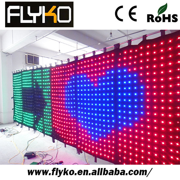 Free shipping Buy from china curtain display soft led curtain videos wholesale chin(China (Mainland))
