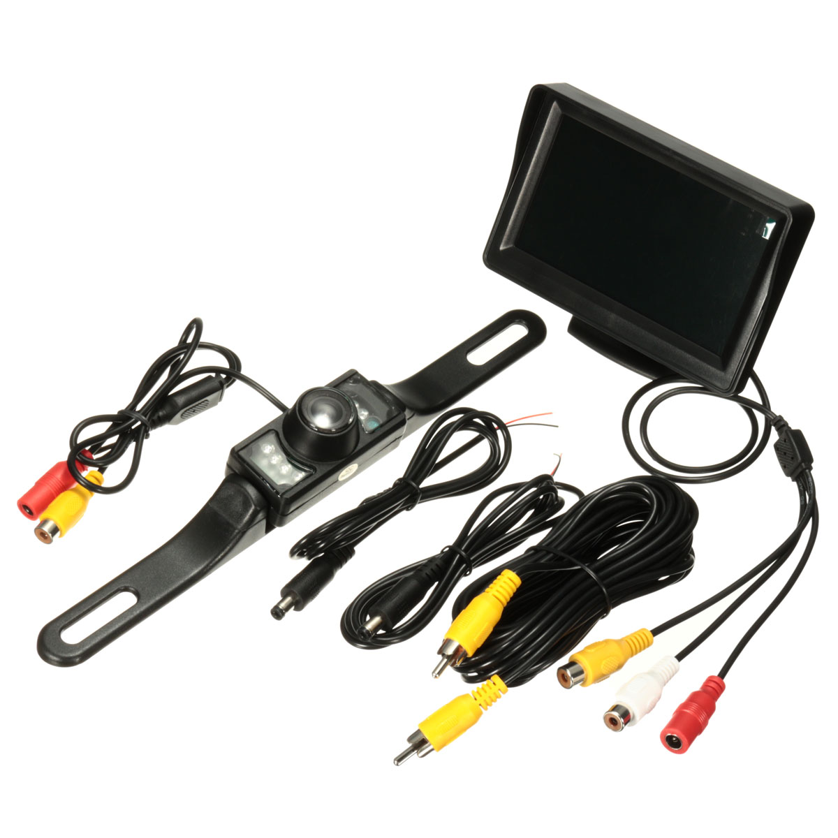 Best Price Night Vision 4.3 Inch TFT LCD Screen Monitor Car Rear View Reverse Backup Parking Camera Kit(China (Mainland))