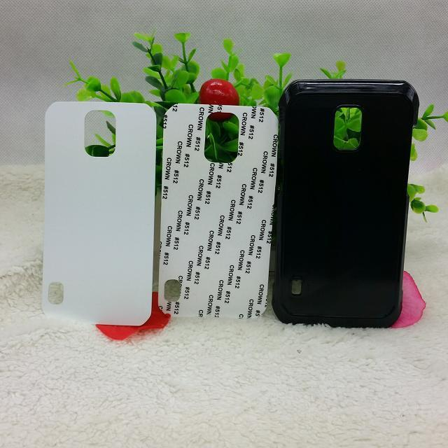 DIY Sublimation Heat Press PC cover case with Metal Aluminium plates for Samsung Galaxy S5 Active 20pcs/lot(China (Mainland))