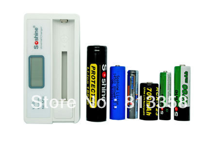 Free shipping 1pc LCD Universal Li-ion 18650 Charger 14500 Charger 16340 Charger  NiMH AA AAA Battery Charger