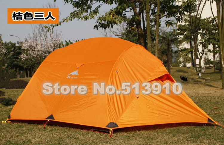 3F 15D nylon silicone coated 3persons 4season ultralight aluminum pole camping outdoor tent include the floor mat 3colors<br><br>Aliexpress