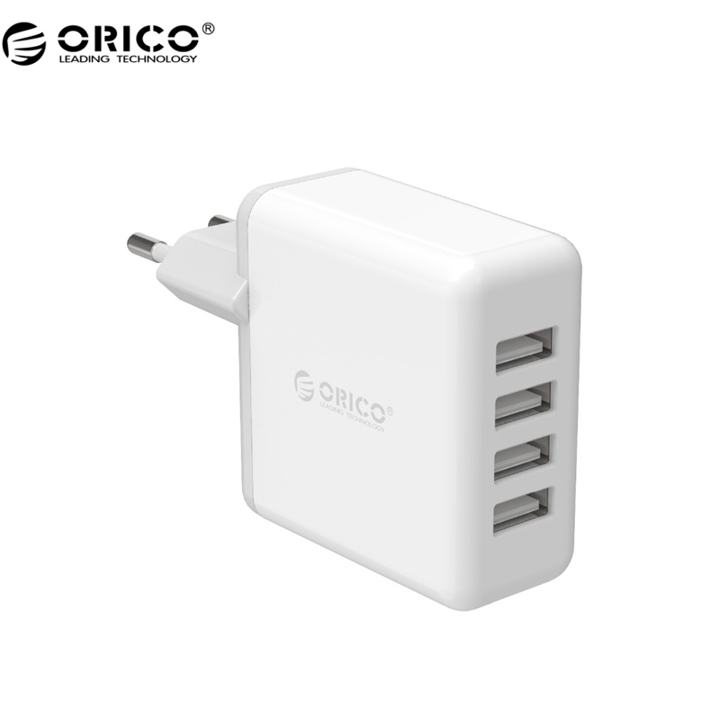 ORICO 4 USB Super Charger 5V6.8A 34W Output MAx Intelligent Identification 5V2.4A Wall Charging for Phone - White(DCM-4U)(China (Mainland))