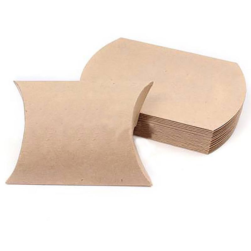 25Pcs Kraft Paper Pillow Candy Box Wedding Favor Gift Party Supply(China (Mainland))