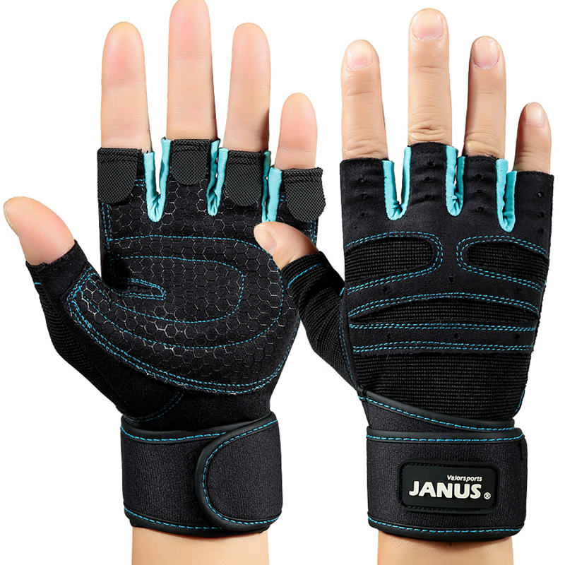 New Men Outdoor Sports Running Fitness Gloves Cycling Motorcycle Dumbbell Training Gloves Non-skid Yoga Gym Half Finger Gloves M