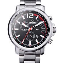 CASIMA men's watch stainless steel quartz-watch outdoor sports fashion calculagraph stopwatch waterproof 100m men clock #8305