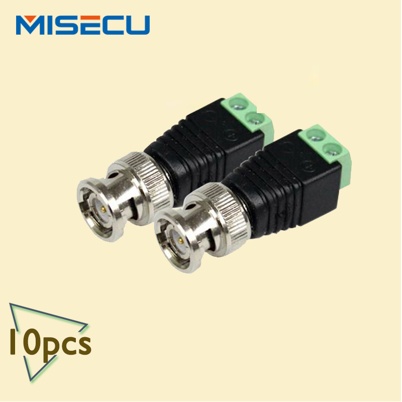 10PCS Coax CAT5 To Camera CCTV BNC UTP Video Balun Connector Adapter BNC Plug For CCTV System(China (Mainland))