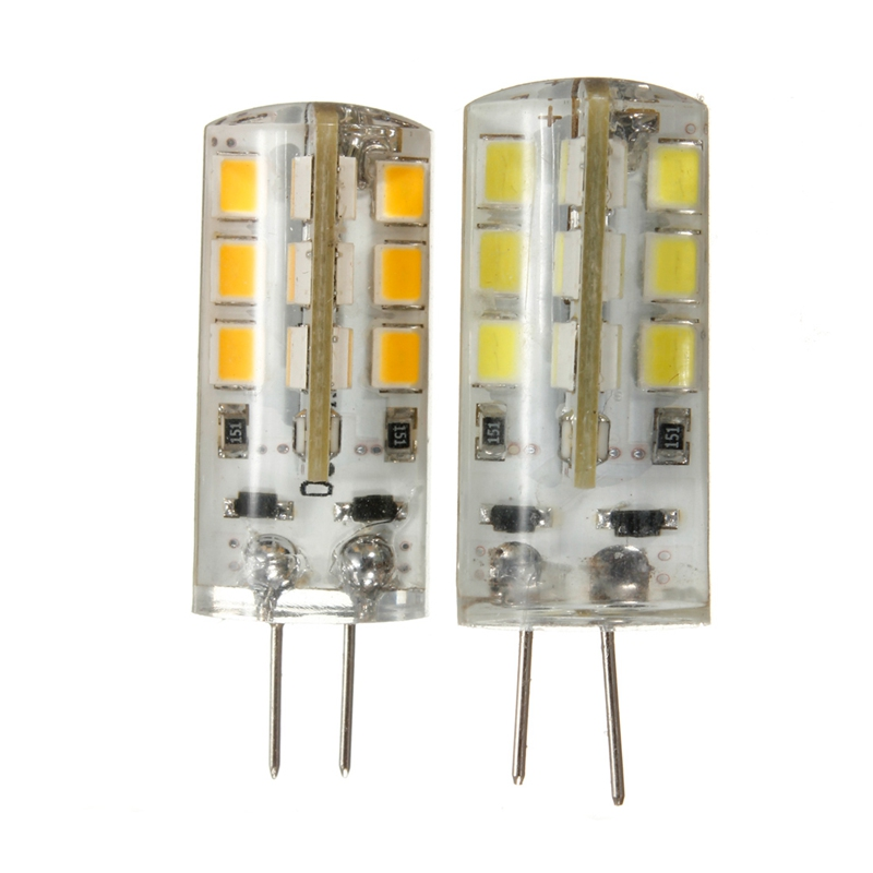 New Arrival Wholesale Price 2W G4 2835 SMD 24 LED Pure/Warm White Silicone Light lamp 12V<br><br>Aliexpress