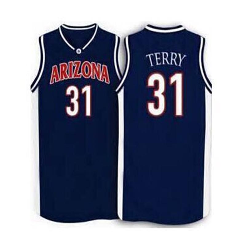 #31 JASON TERRY Arizona BASKETBALL JERSEY Blue Embroidery Stitched Personalized Custom Jerseys(China (Mainland))