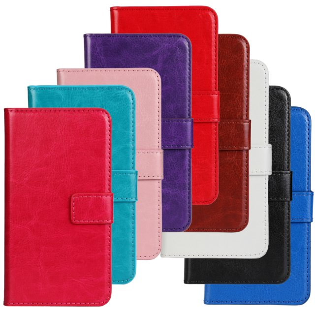 Retro Luxury Crazy Horse Flip Leather Wallet Case Folio Vintage Cover Accessories With Card Slot Stand For LG Optimus L70