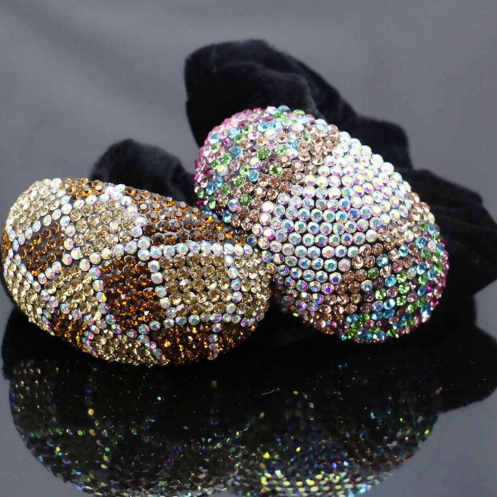 40*64mm Inlaid Rhinestone Rope Wedding Headdress Headband Headpiece Crystal Hair Accessory Clip Hairpin Elestic Gifts(China (Mainland))