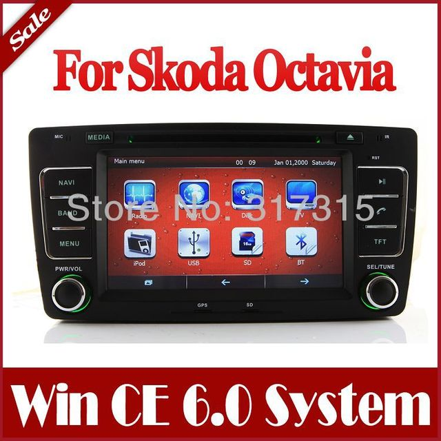 "8"" Car DVD Player for Skoda Octavia 2005-2008 with GPS Navigation Radio TV BT USB SD AUX Map Ipod Stereo Audio Video SatNav"