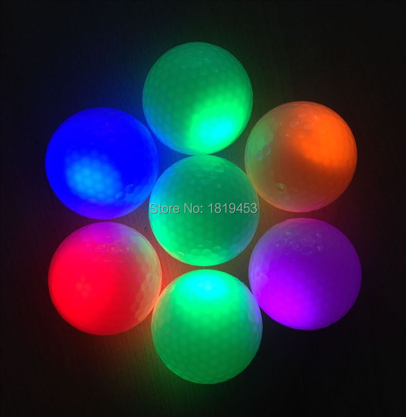 2015 newest hot sale flashing golf For Night Time LED Flash Play Golf Light Ball(China (Mainland))
