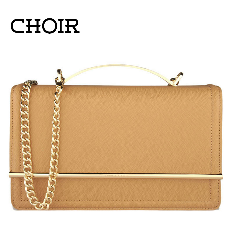 2015 brand New Women handbag brief 2 colors Synthetic Leather satchel ceremonial Evening bag Purse wedding bags golden chain(China (Mainland))