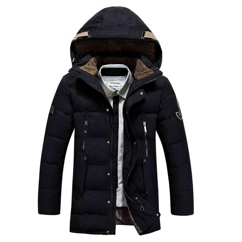 free shipping 2015 AFS JEEP Mens coat Winter, slim fit down coat &amp; medium long size mens down coat 178Одежда и ак�е��уары<br><br><br>Aliexpress