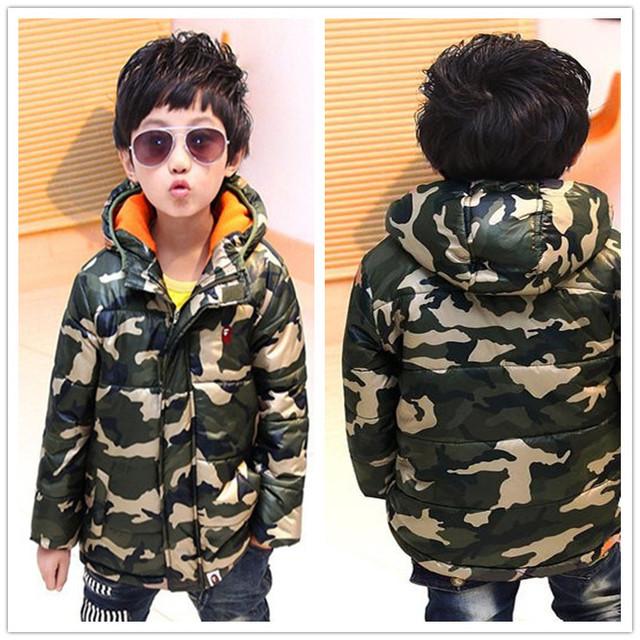 Высокое Качество Новый Бренд Моды 2015 Зимние Детские Куртки Для Детей мальчика С Капюшоном Пальто