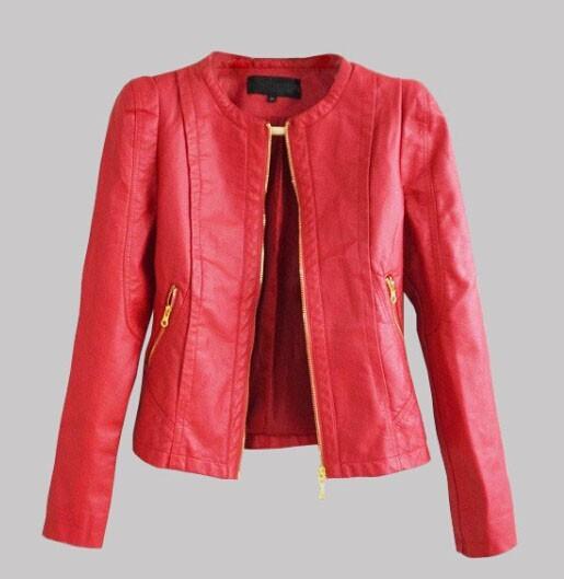 2016 Top selling Women Ladies Zipper Slim Biker Motorcycle PU Leather Jackets Punk Rock Coats very Cool short jackets coats(China (Mainland))