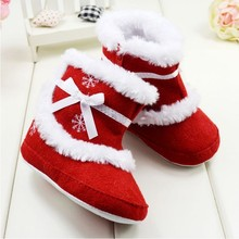 Winter Baby Todddler Shoes Girls First Walkers Babay Soft Snowboots Infant Soft Sole Prewalkers Size 11.5/12.5/13.5cm(China (Mainland))