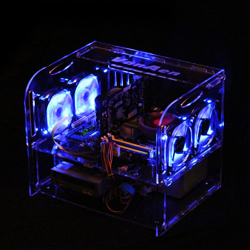 T29 DIY personality Desktop acrylic rack water cooling transparent Computer Cases Towers atx Horizontal main chassis(China (Mainland))