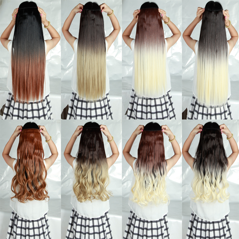 2015 Summer Long Ombre Hair Extensions Clip In Ins Hair Extentions 3 4 Full Head 26 Straight