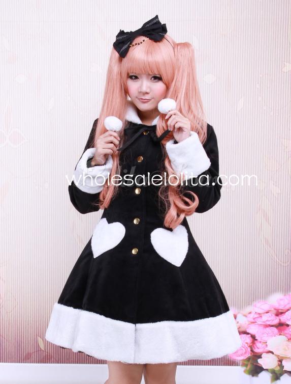 Здесь можно купить  Sweet Black Wool Long Sleeves Girls Lolita Overcoat  Одежда и аксессуары
