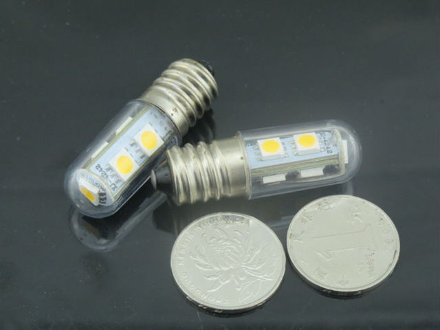 E14 1W LED Mini Lights Bulb Energy Saving SMD5050 Led Corn Candle Lamps  For Freezer Sewing Machine Refrigerator Chandelier