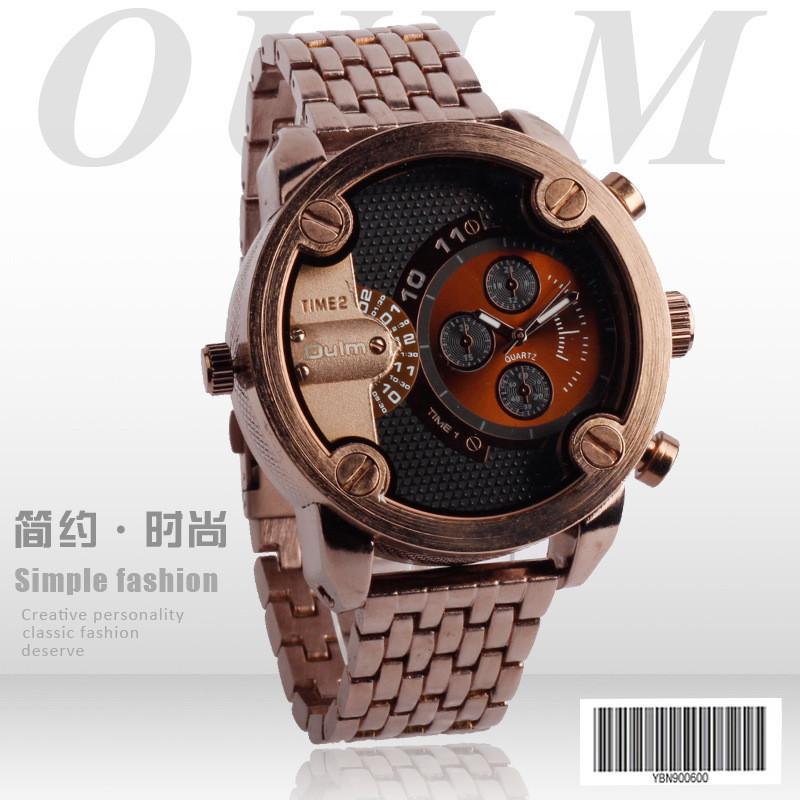 1pcs / lot Mens Luxury Brand OULM HT3130 Watch Full Steel Military 5CM Big Face Analog Display Designer Future Erkek Saat Black<br><br>Aliexpress