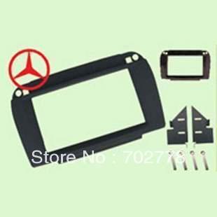 2 Din Special Car Audio Frame, Install Dash Kit,Fascia,Radio Frame,DVD Panel,Retrofit Kit Benz 2002-2006(Peach) Double