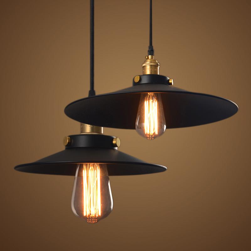 vintage industrial lamp 36cm lampara retro pendant light lampshade loft lights living dining ...