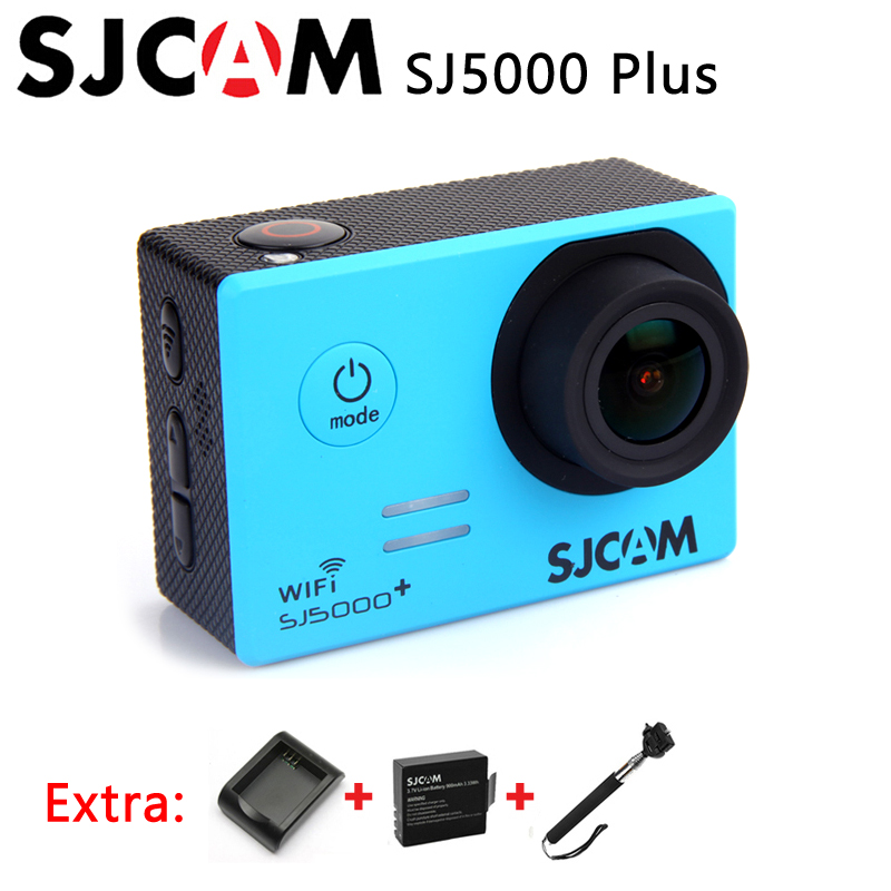 Original SJCAM SJ5000 Plus Sport Action Camera Ambarella A7 SJ5000+ WIFI 60FPS Waterproof Camera+Extra Battery+Charger+Monopod(China (Mainland))