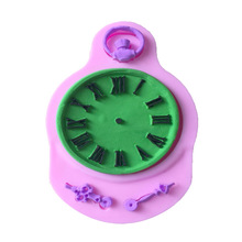 Silicone Mold Fondant Cake Mould Clock Pocket Watch Cupcake Decorating Tools Steam Punk Baking Kitchen Accessories A131
