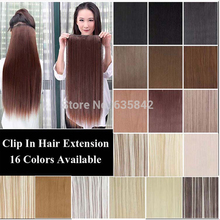 24″ 60cm More color 5 Clips Heat Resistant Fiber Long Straight Clip in Synthetic Hair Extensions women hairpiece accessories