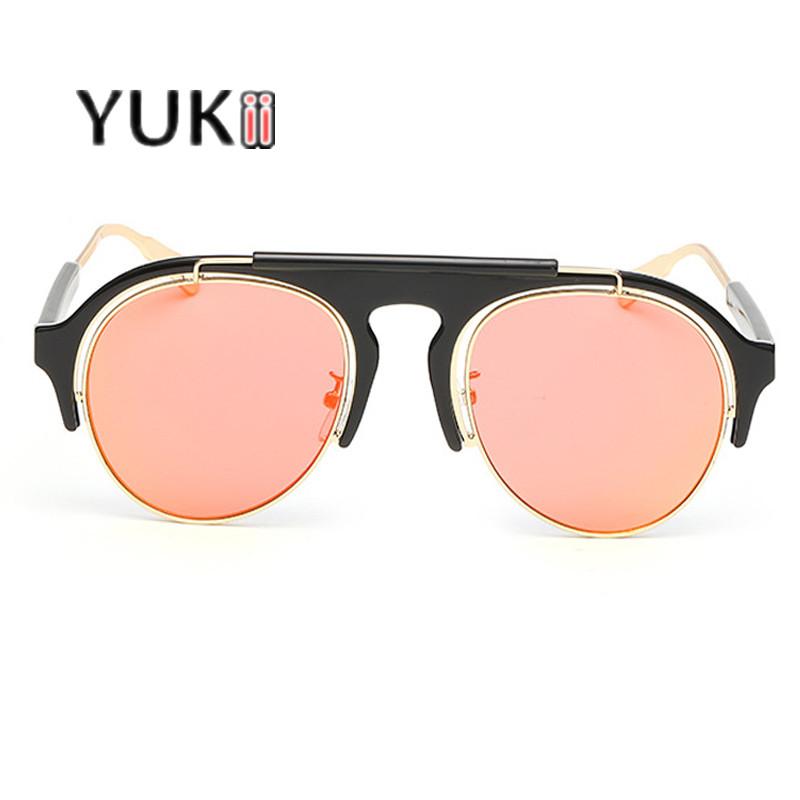 YUKII Brand New Sunglasses Aviator Ray Color Reflective Glasses Fashion Women Sun Glasses lunette de soleil femme de marque(China (Mainland))