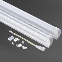 LED T5 T8 integrated tube 6w 300mm 10w 600mm 220v 185-265v milky cover light free shipping 1ft 2ft cold white/warm white LAMP(China (Mainland))