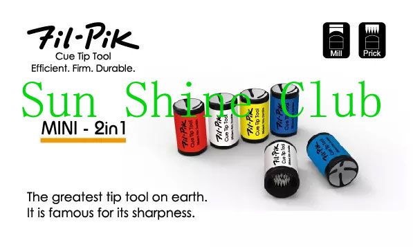 Free shipping 10pcs/lot NEW 2016 Professional Original Fil-Pik MINI 2 in 1 Billiard Pool Metal Cue Tip Tool Billiard Accessories(China (Mainland))